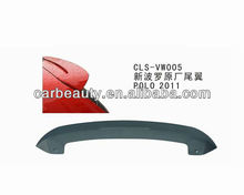 VW005 ABS car rear roof spoiler for VOLKSWAGEN POLO 2011