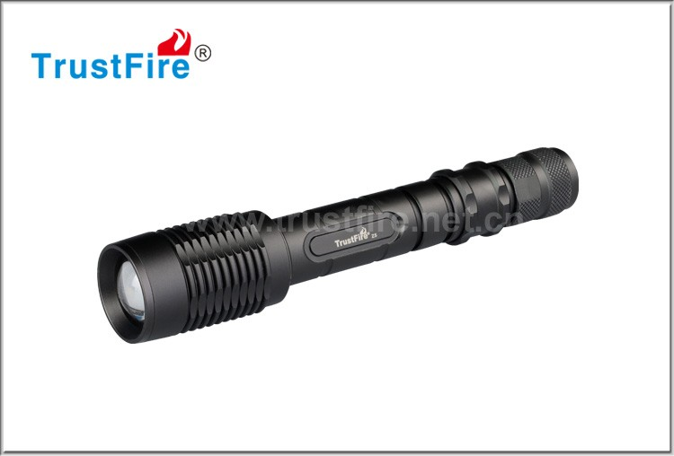 xml t6 led torch Z5 1600LM trustfire led zoom flashlight (2*18650 rechargeable battery)