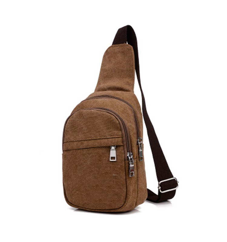 BA-1448 Hot Sale Custom Vintage Chest Bag Shoulder Bag Men Canvas Bag