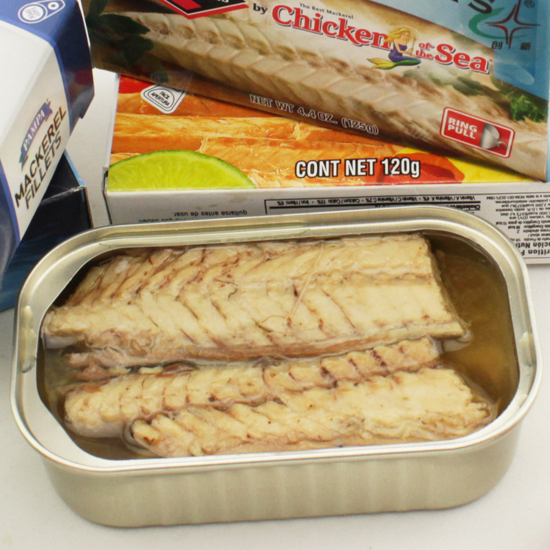 Canned jack Mackerel Fillet in Brine canned fish factory