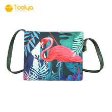 Latest High Quality Canvas Women Handbags flamingo and koala printing lady shoulder bag