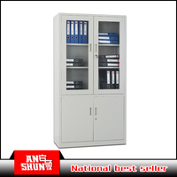 Glass door file cabinets without feet