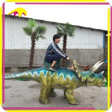 KANO1382 Playground Equipment Customized Animatronic Walking Dinosaur Ride
