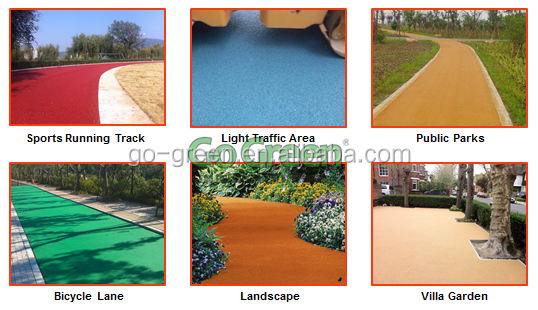 Bicycle lane colored road paving color asphalt