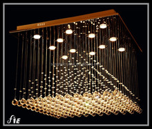 The new design elegant modern crystal chandeliers stairs