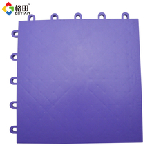 High-strength portable pp flat indoor interlocking floor tile for sports