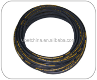 "2016 Alibaba good price SAE 100R1AT 1/4"" DN 6 with ordinary linen surface for cleaning machine steel braided rubber hose"