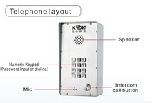 Intercom system Door phone KNDP-43 Koontech voip adapter