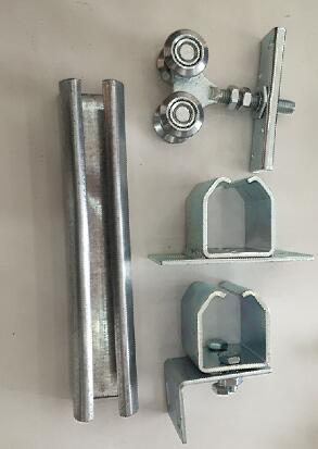 Hanging Door Roller with Rail and Fixing Bracket for Sliding Gate