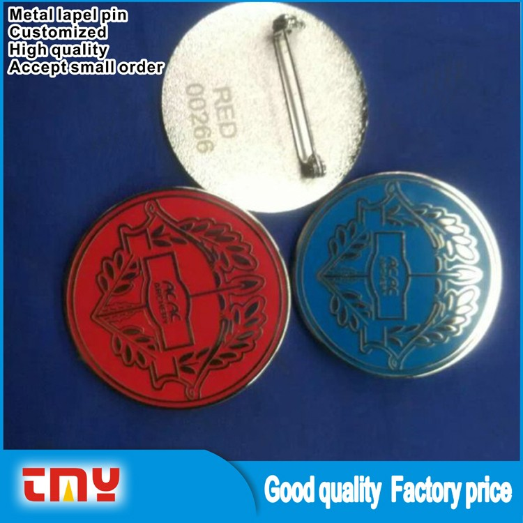 Various Shape OEM Design High Quality Long Needle Metal Lapel Pin for Promotion