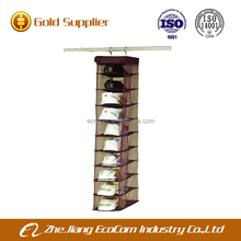 China online shopping hot selling household products 10 shelves hanging shoe organizer