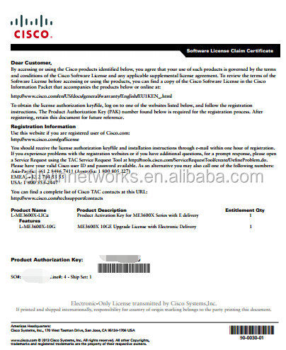 license L-ME3600X-10G PDF File, Can deliver by Email. Fast delivery