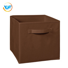 China Non-woven Square Non Woven Collapsible Fold Fabrics Paperboard Clothes Storage Box