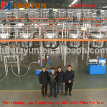 paint production line with electric heating high power blender