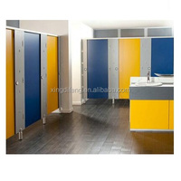 Top quality commercial toilet cubicle partition HPL / shower toilet cubicle