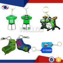 Newest promotion gifts rectangle rubber keychain