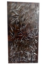 laser cut leaf Metal Wall Sculpture