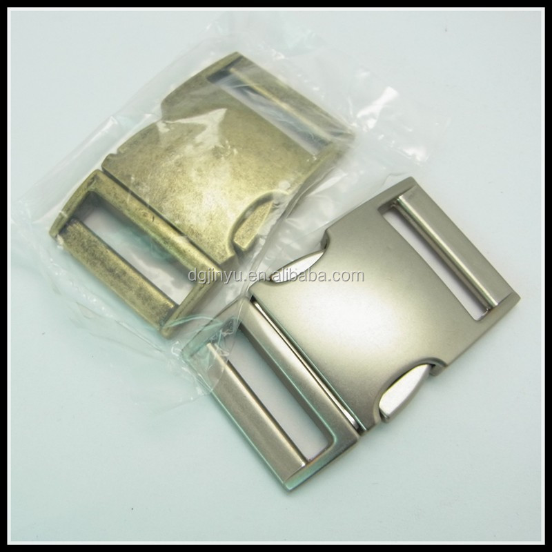 Dongguan Jinyu 25mm metal buckle for dog collar/quick release buckle/countered buckle hardware