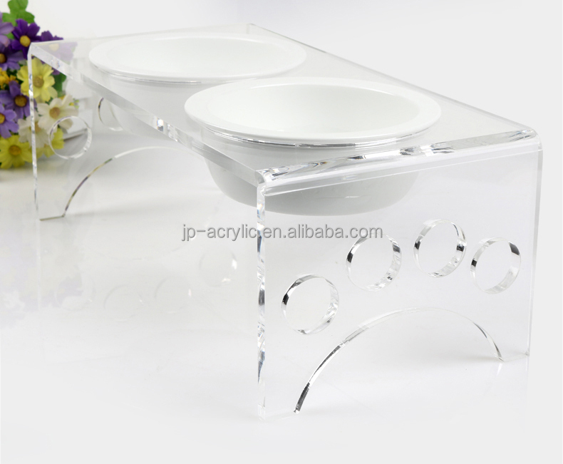 Acrylic Pet Feeder Dog Bowl Stand Pet Bowl Stand