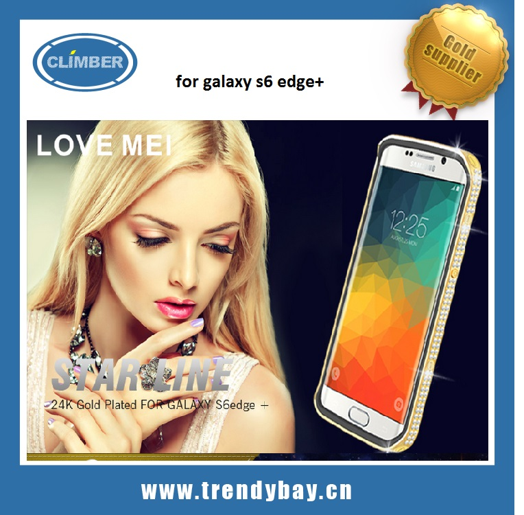Luxury Love Mei cover for galaxy s6 edge+/case for smsung galaxy s6 edge+