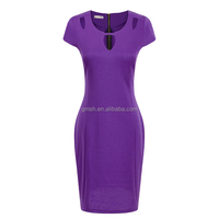 2016 Sexy Women Deep V-neck Bodycon Slim Pencil Dress Business Party Cocktail Dress