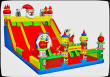 new design inflatable Santa Claus slide for kid/commercial inflatable slide