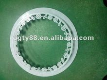 PMMA vacuum forming flower basket shape circle of plastic