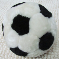 Kids soft white and dark stuffed plush football toys for boys