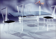 Cheap Crystal Acrylic New Style Dining Table Set