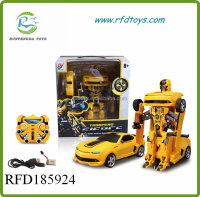 Remote control transform car RC transform robot toy 2.4G car transform robot toy