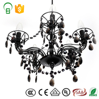 New Model Black Small Bulb Acrylic Indoor Chandelier With decoration