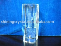 latest design 3d laser crystal the Statue of Liberty