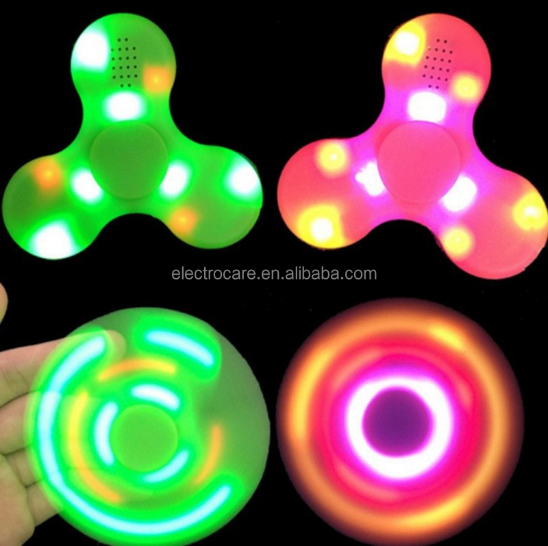 led bluetooth music fidget spinner toy FS202