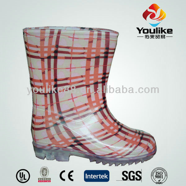 YL6159 Newest Safety Wholesale PVC Girl's Rain Boots