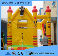 Cheap inflatable bouncer withe slide for kids, mini inflatable castle.