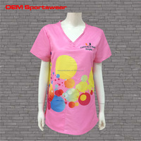 100% polyester and good quality hospital nursing scrubs