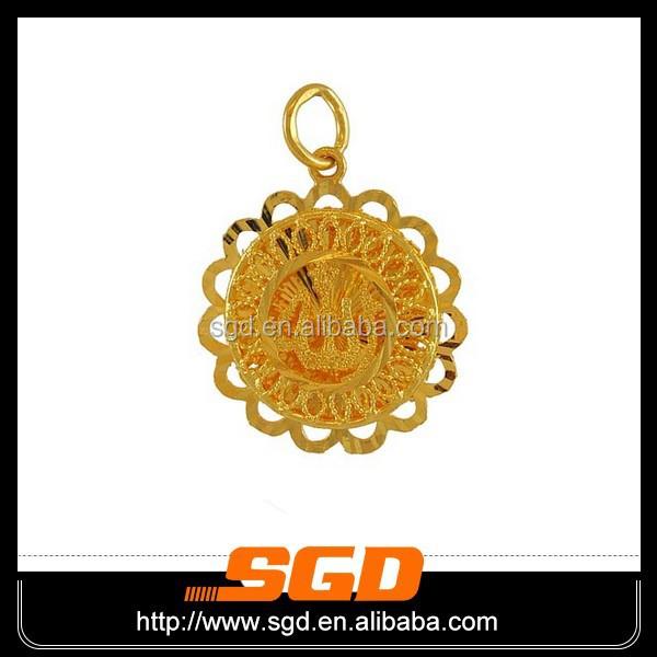 Gold symbols on jewelry