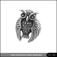 small quantity wholesale owl skull stainless steel jewelry ring of fashion