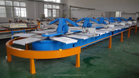 HWT-A plastic screen Oval Automatic Screen Printing Machine 8,12,16 colours High quality