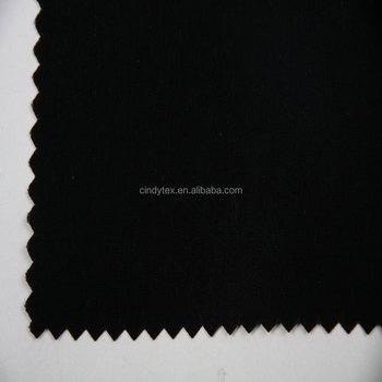 plain dyed heavy black peached faux silk fabric