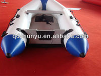 (CE) pvc material OEM accepted inflatable pvc v bottom boats for sale