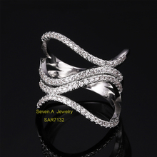SAR7132 China Factory Direct Wholesale Platinum Finger Ring Designes Women Jewelry Ring Price