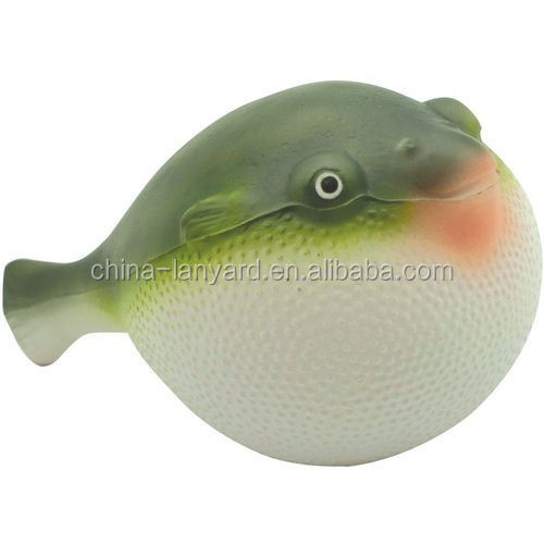 Custom Puffer Fish Stress Reliever/Oil Derrick Stress Ball/Puffer Fish Stress Toy