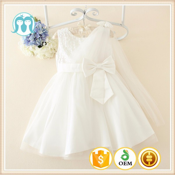new baby clothes Floating shoulder design wholesale price hot selling baby clothes girls cotton dress materials
