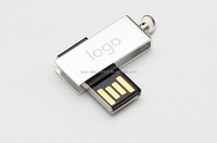 Promotional Gift Rotating Waterproof USB Flash Drive 8gb 2GB 4GB 8GB 16GB 32GB 64GB Mini Metal Mini USB Stick Memory Pendrive