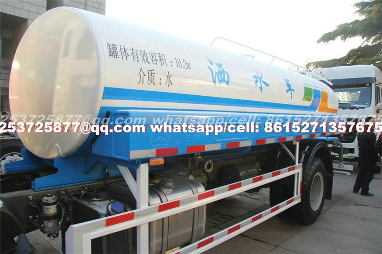 China heavy truck HOWO 180HP 10cbm 4X2 water truck Euro 3/4/5 cell: 8615271357675