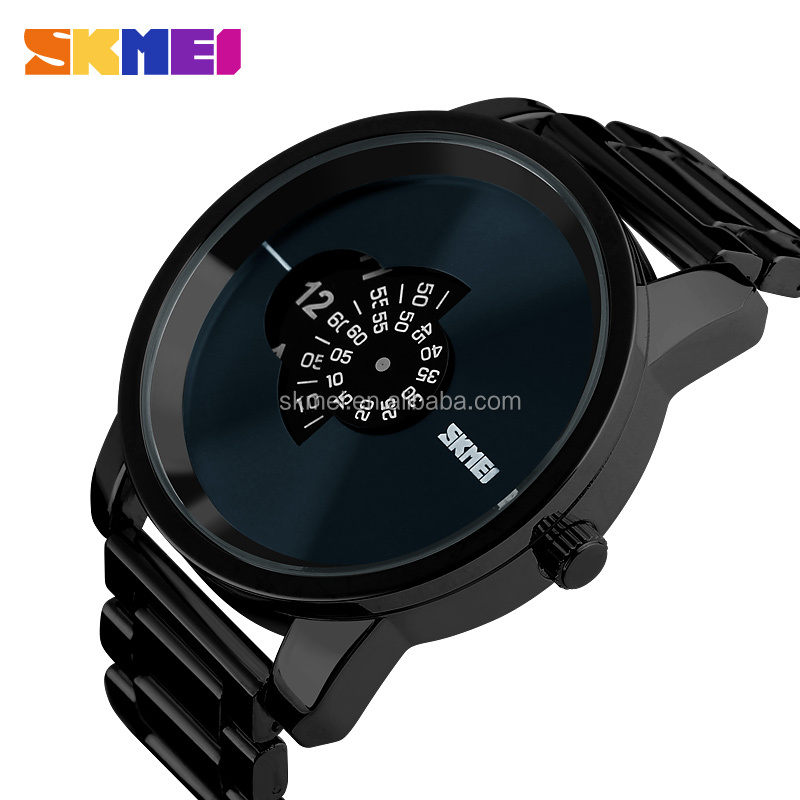 unusual outlook black mens watches own logo waterproof well 3atm watch