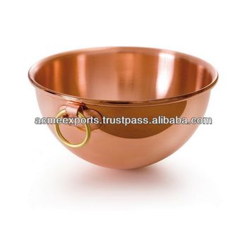 Copper Kitchenware Mixing Bowls