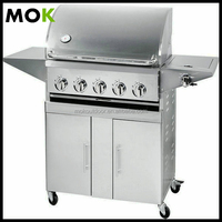 Stainless steel gas grill european barbecue grill gas bbq for sale
