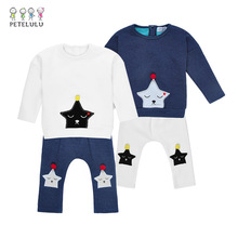 Baby Boy Garments Embroidered Sleeping Stars Winter Baby Clothes